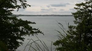 Blick zurück vom Schnellmarker Holz in die Eckernförder Bucht